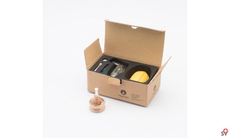 VAPMAN Set Station de chauffe - Basic Poirier (Vaporizer) la boite HD