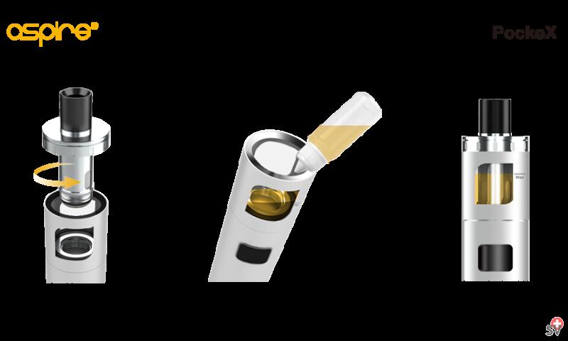 Aspire PockeX - Silver Edition (Vaporizer) - filling