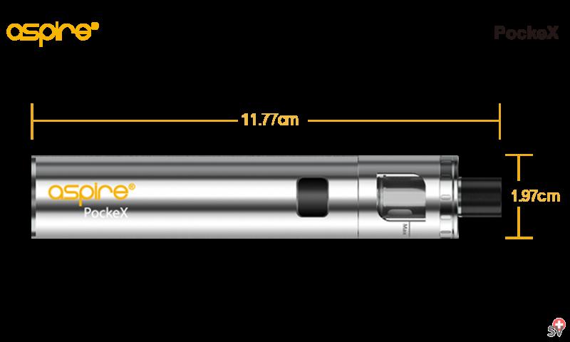 Aspire PockeX - Silver Edition (Vaporizer) - size
