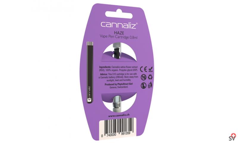 Cartouche Cannaliz « HAZE » 7% CBD (Phyto-Inhalation) b ack