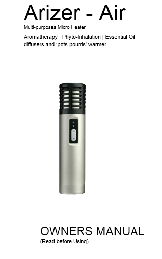 Arizer Air User Manual