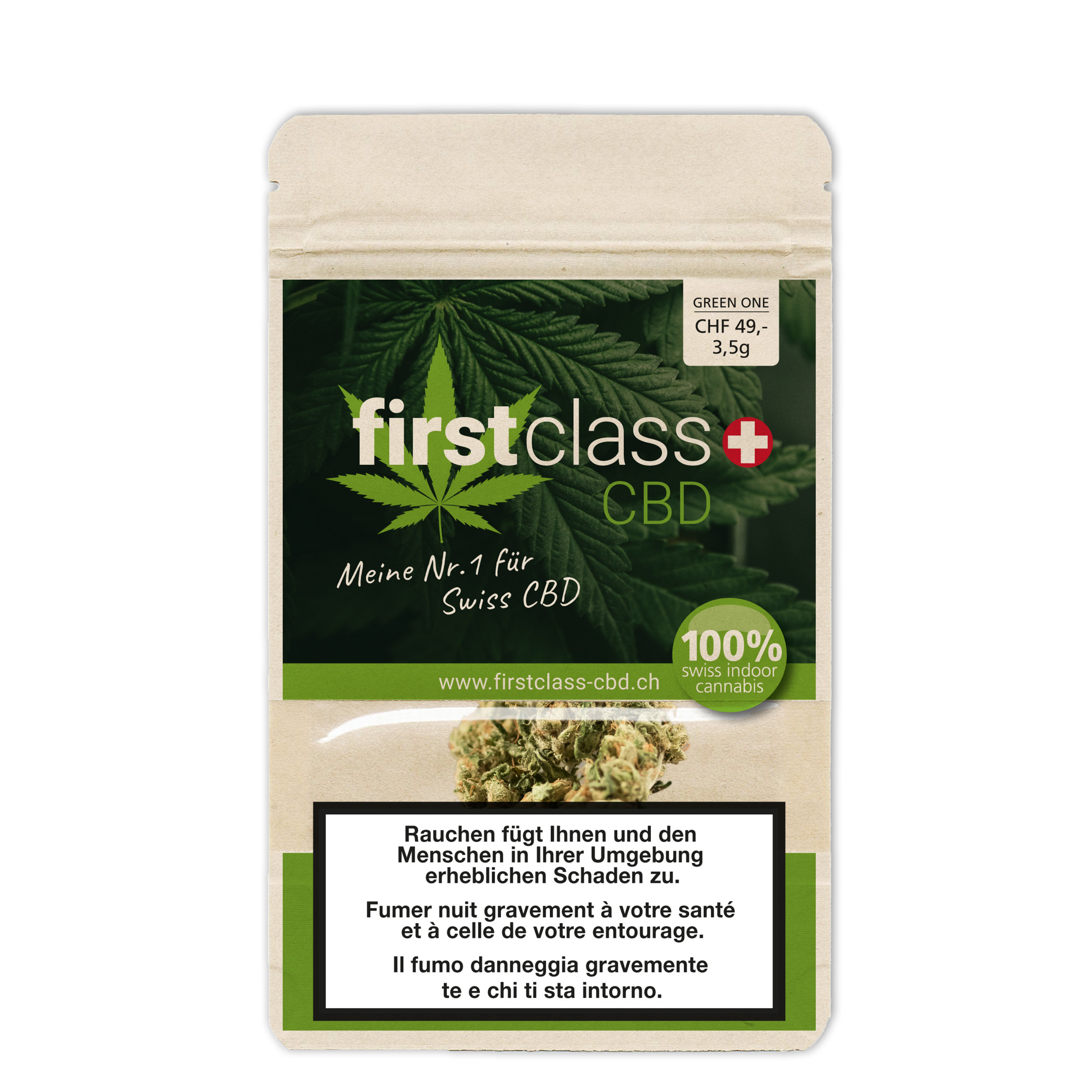 CBD First Class packaging