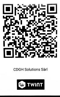 Twint Code QR pour paiement